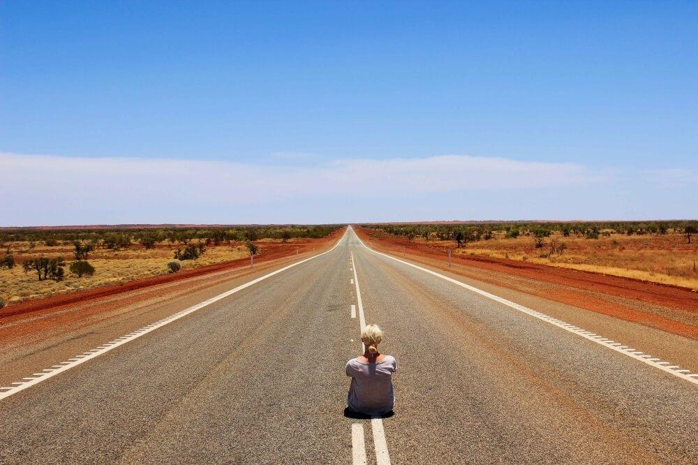 Endlose Straßen an der Westküste Australiens