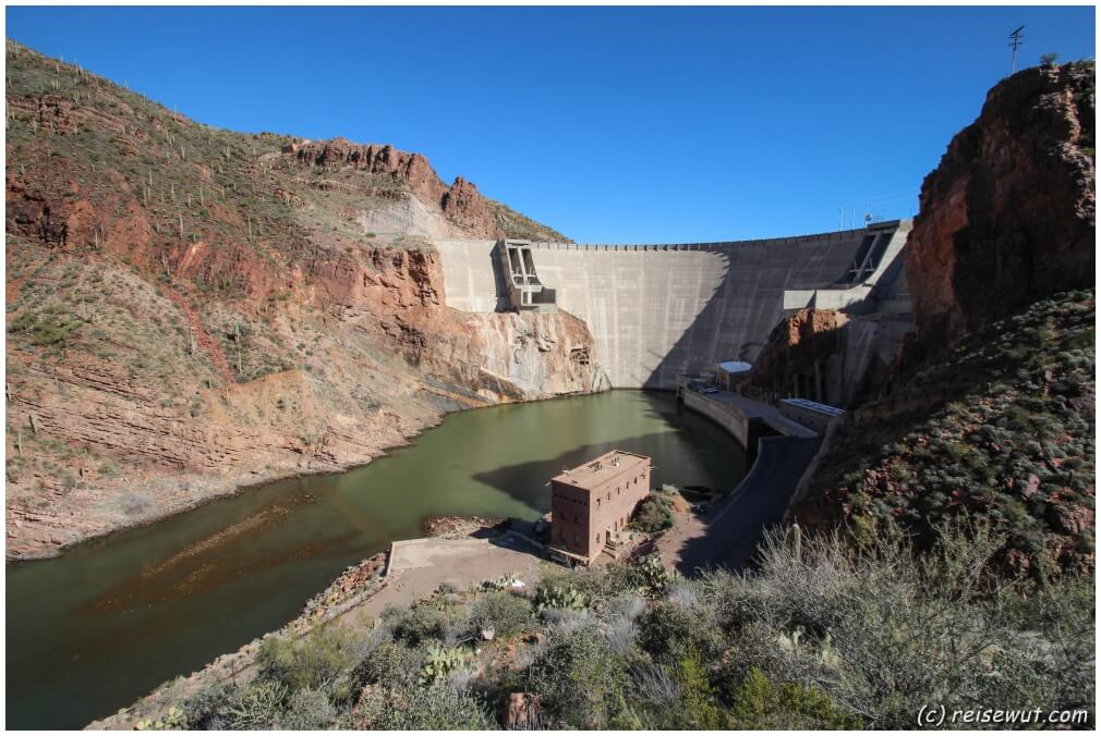 Das Ende ist erreicht, der Roosevelt Damm