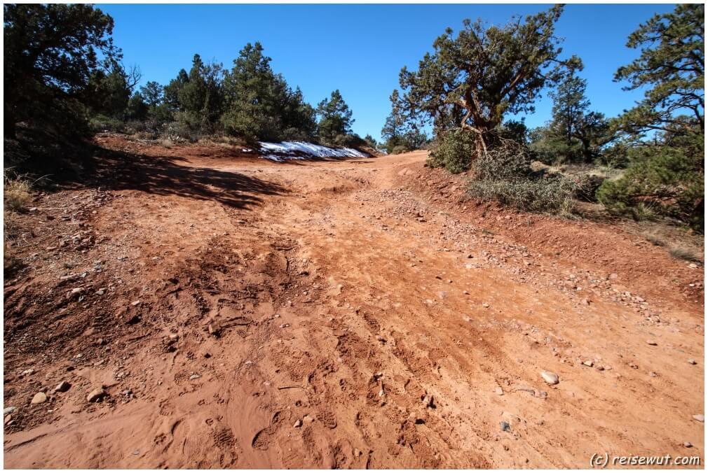 Ein nicht wirklich guter Zustand der Forest Route 152