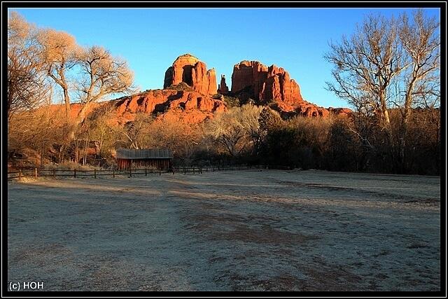 Sonnenuntergang bei Red Rock Crossing