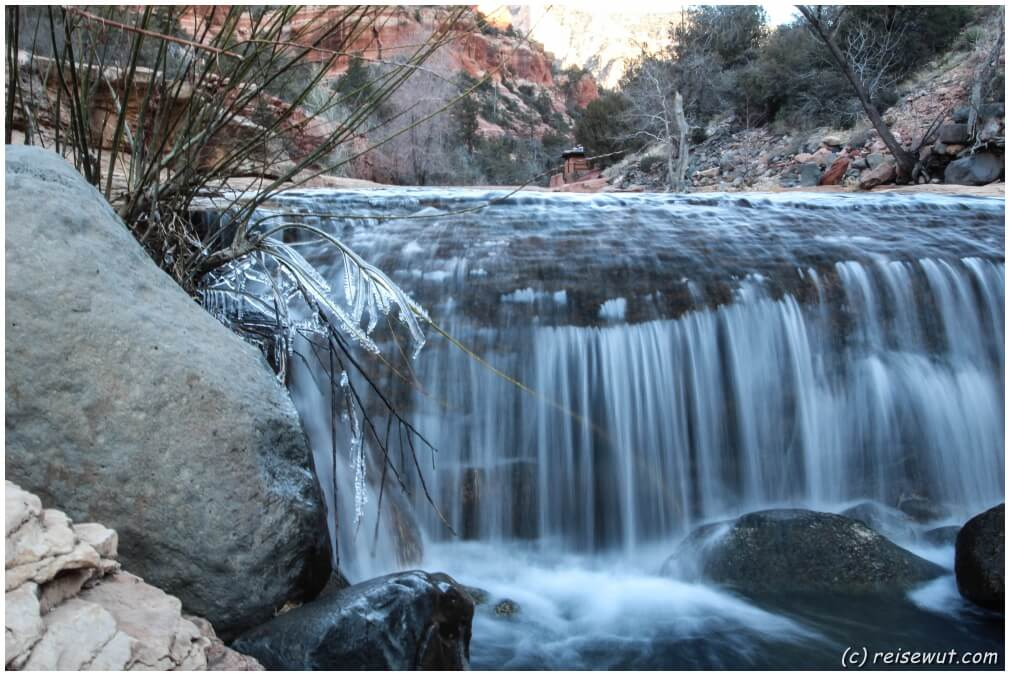 Slide Rock State Park ... leicht gefroren