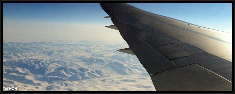 Irgendwo über Grönland