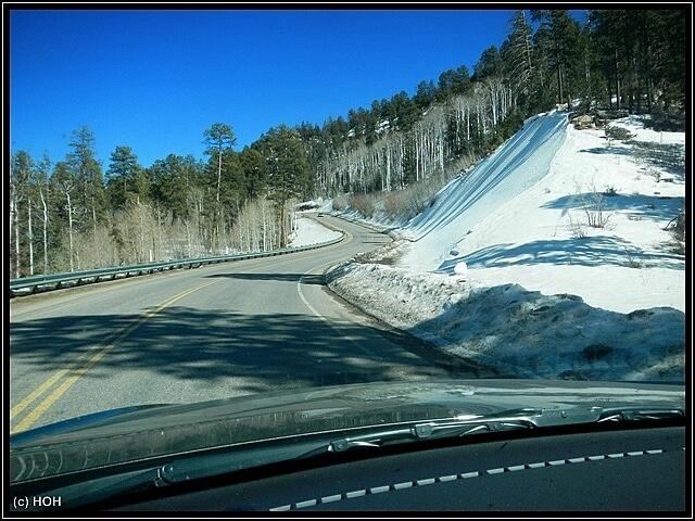 An der Indian Route #13 liegt noch jede Menge Schnee
