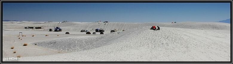 Massenflucht aus der Stadt hin nach White Sands ...