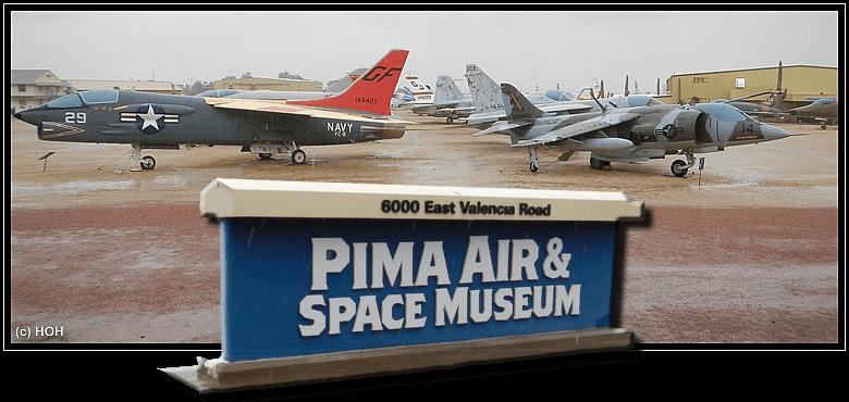 ... an vermutlich einem von drei Regentage im Jahr! PIMA Air&Space