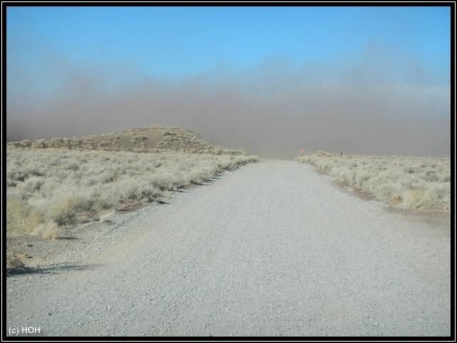 Der Sandsturm kommt immer näher