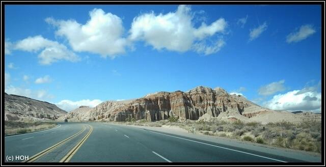 Zufahrt zum Red Rock Canyon State Park
