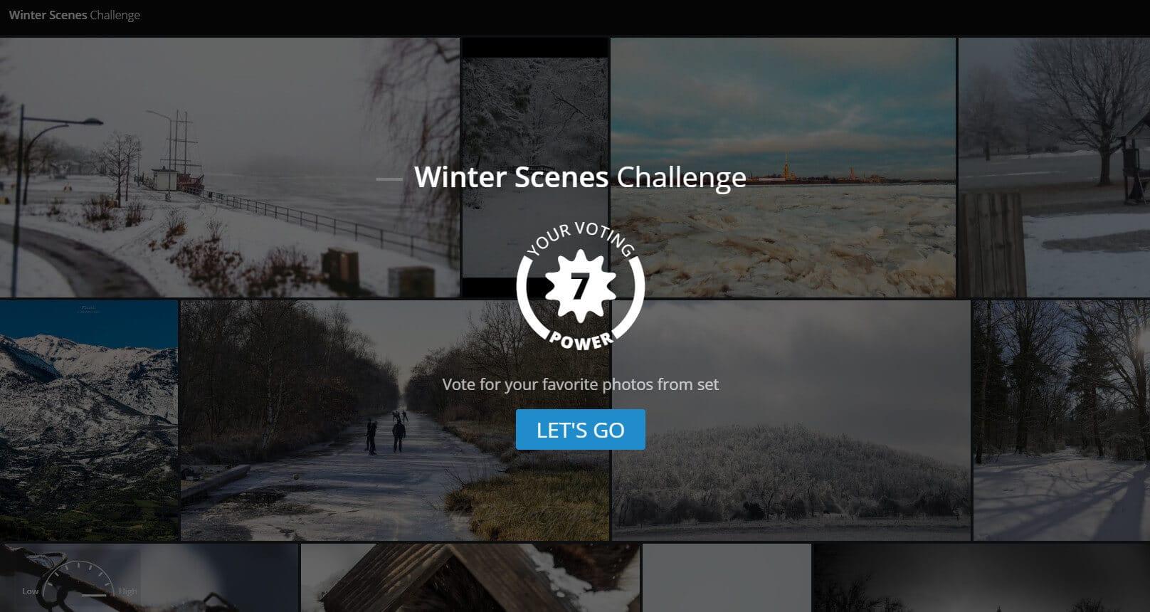 Das Voting fürs Thema Winterlandschaften