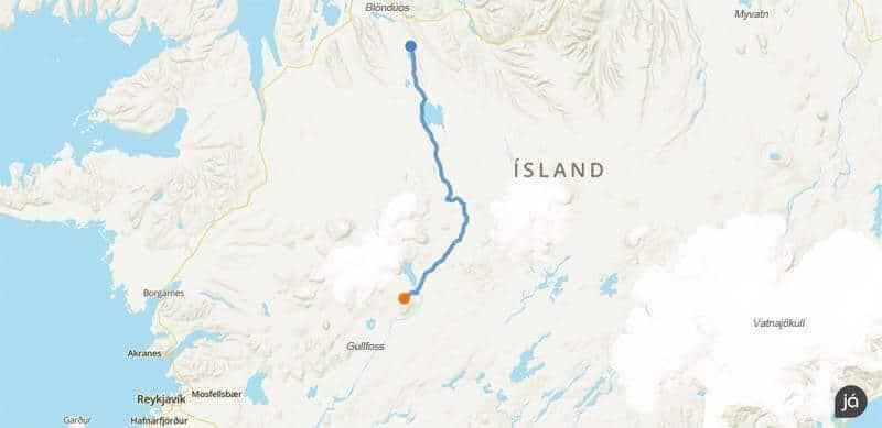 Die Kjölur Route durchs isländische Hochland