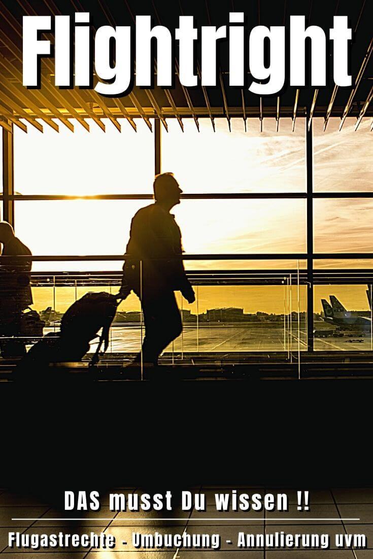 Flightright Fluggastrechte | Pinterest Pin