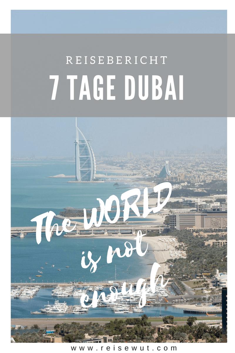 Pinterest Pin | Reisebericht 7 Tage Dubai
