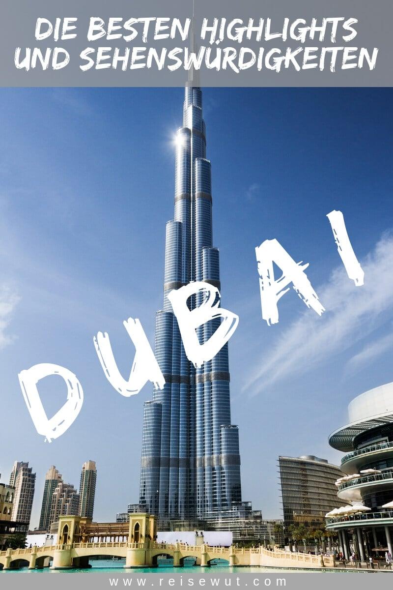 Dubai Sehenswürdigkeiten - Pinterest Pin