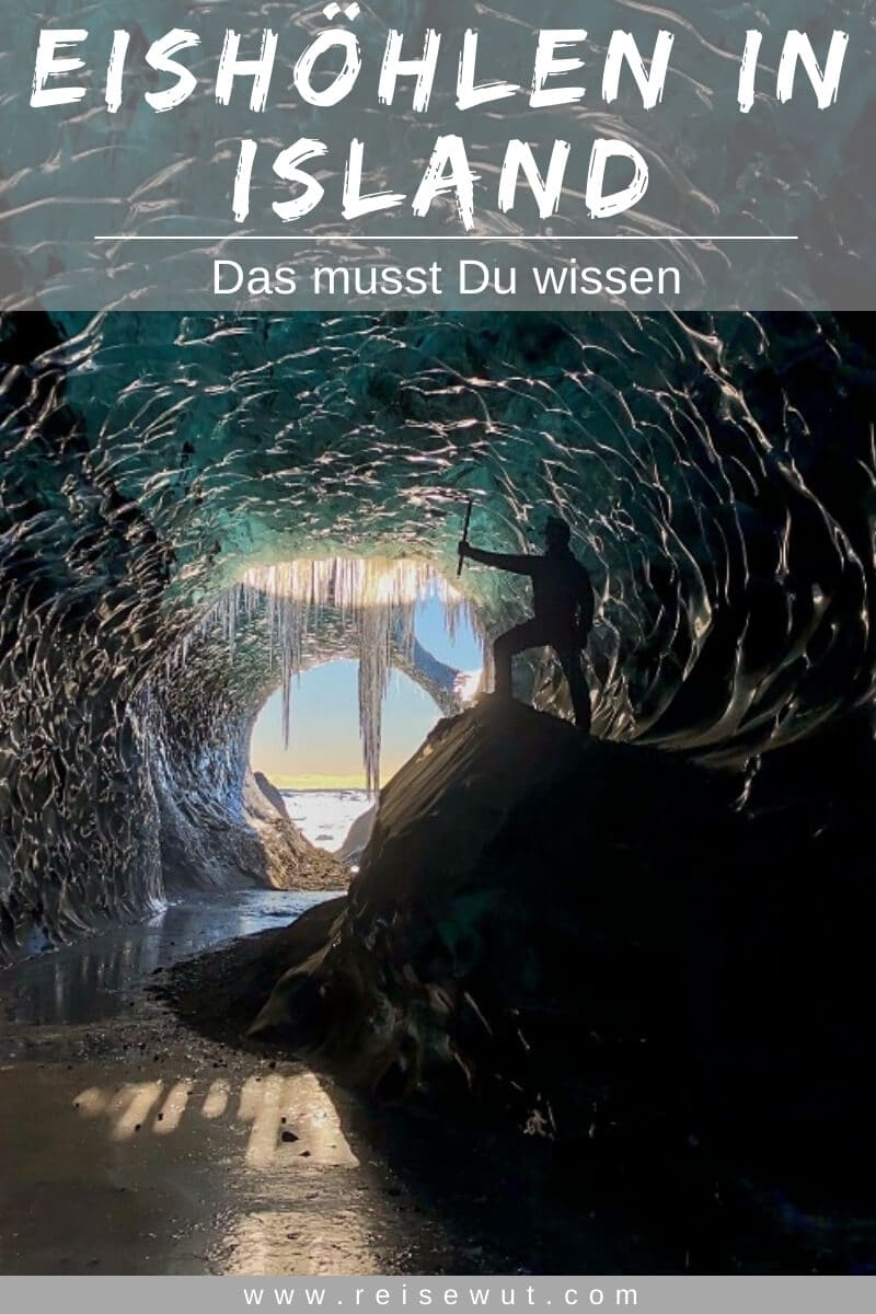 Eishöhlen in Island | Pinterest Pin