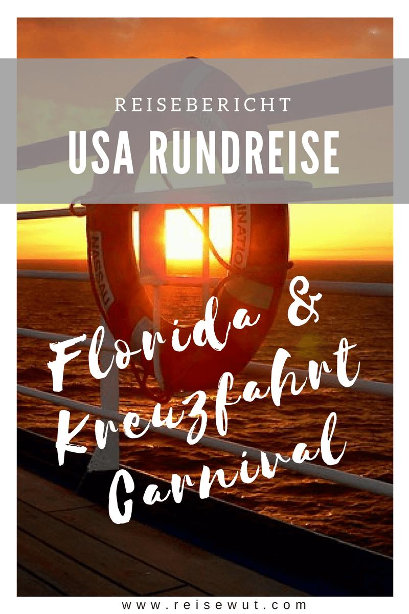 Carnival Cruise Line Kreuzfahrt & Florida Rundreise | Pinterest Pin