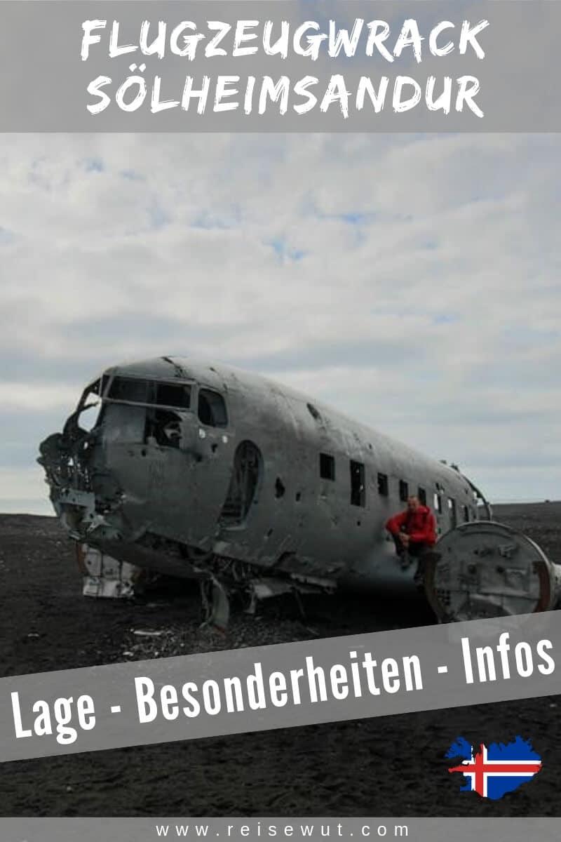 Flugzeugwrack Sölheimsandur Island | Pinterest Pin