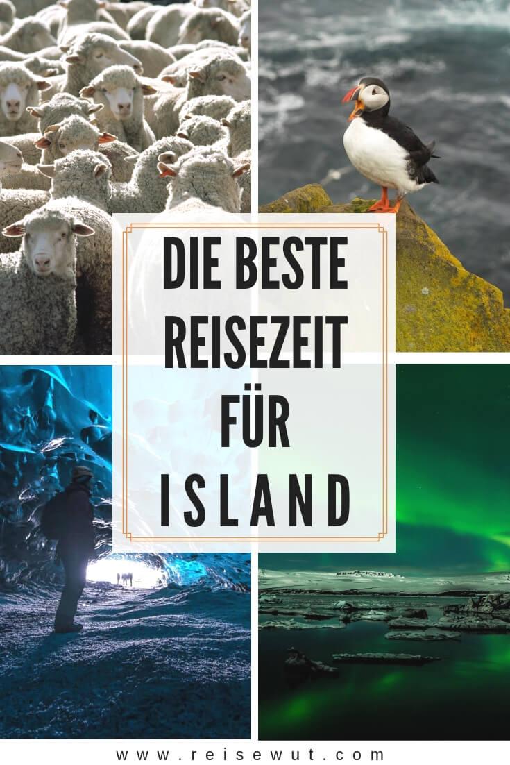 Island beste Reisezeit | Pinterest Pin