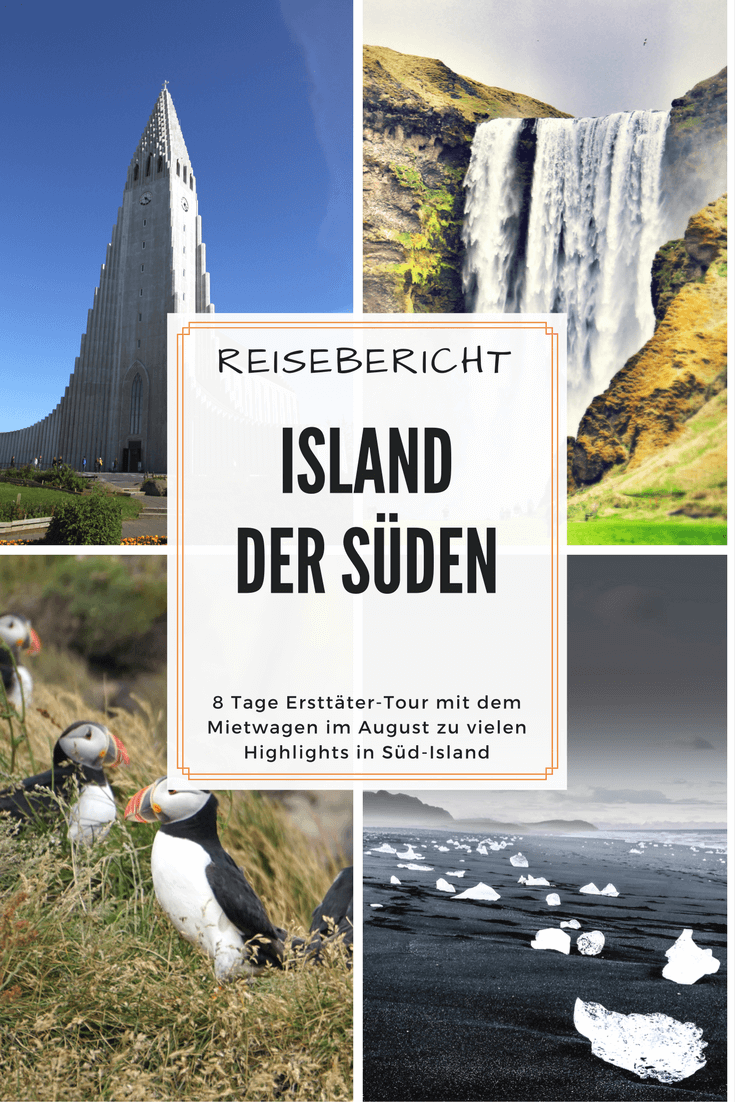 Reisebericht Island der Süden | Pinterest Pin