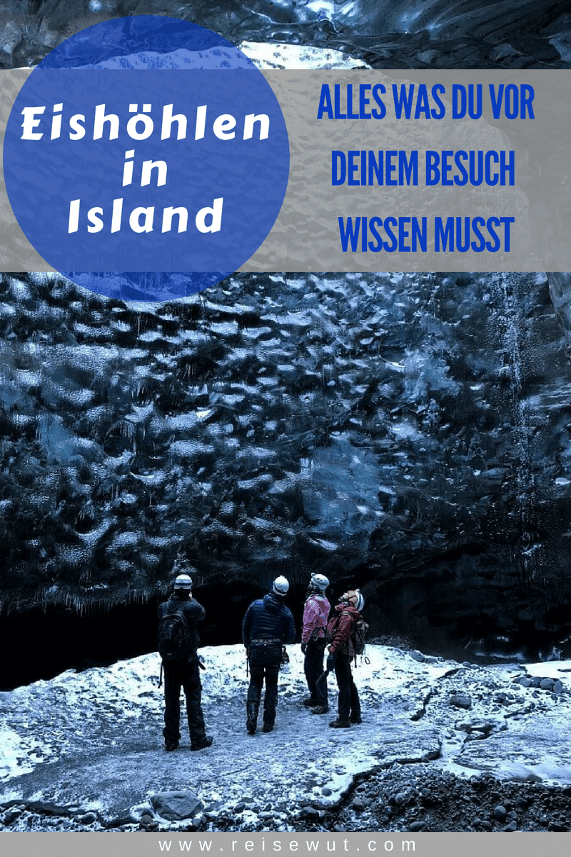 Eishöhlen in Island   Pinterest Pin