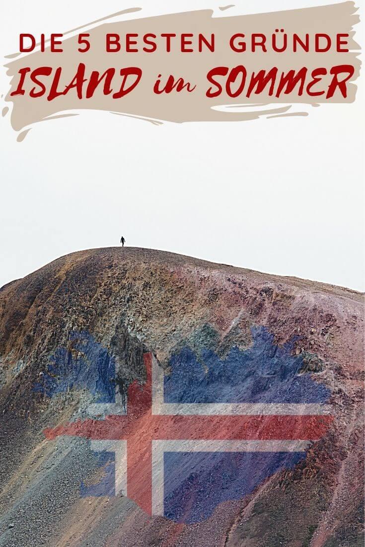 Island im Sommer - 5 Gründe dafür | Pinterest Pin