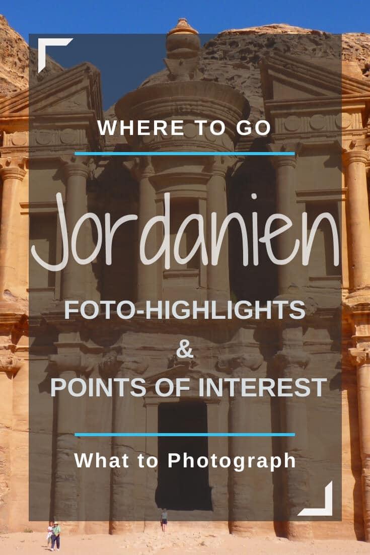 Jordanien Karte mit 25+ Sehenswürdigkeiten | Pinterest