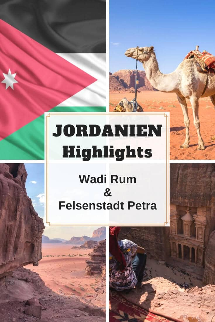 Pinterest Pin | Jordanien Reise Highlights