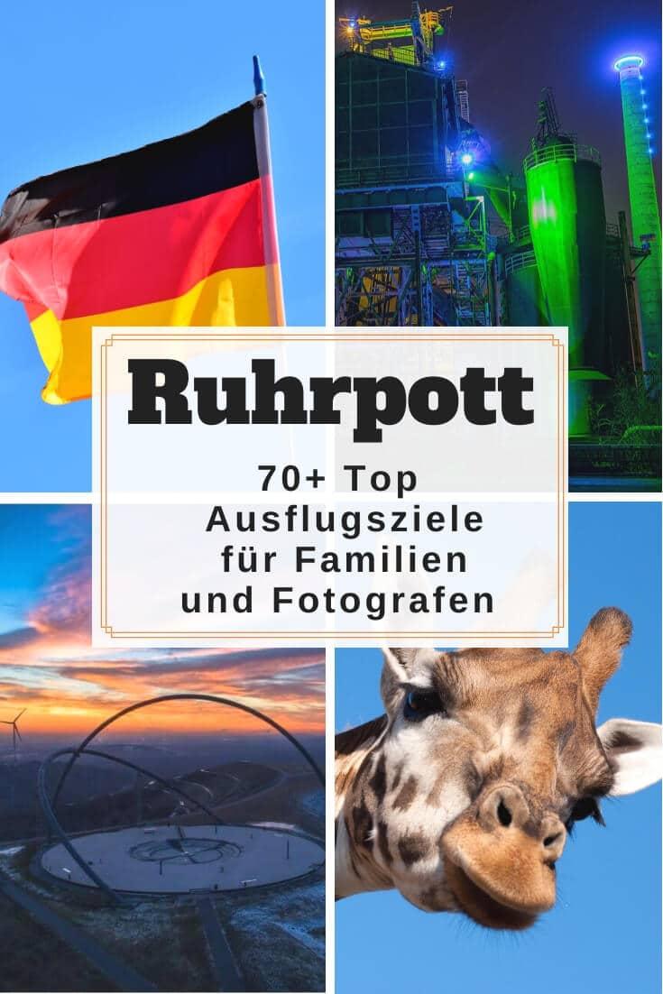 Ausflugsziele und Sehenswürdigkeiten Ruhrgebiet + Karte | Pinterest