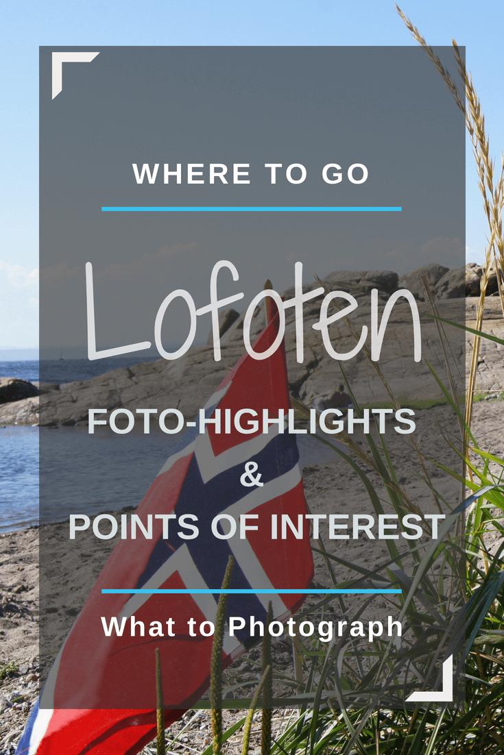 Lofoten Karte Sehenswürdigkeiten | Pinterest Pin
