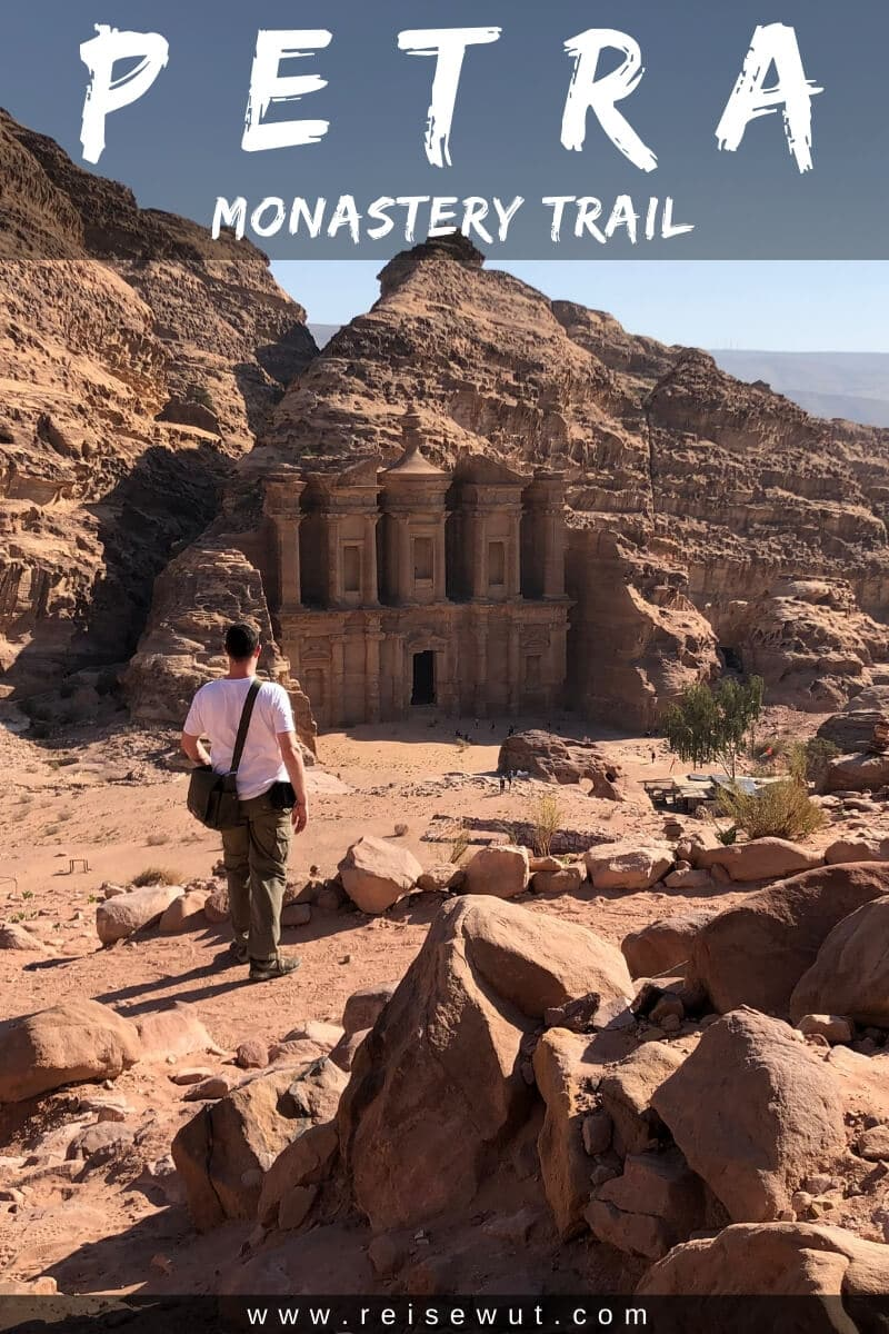 Monastery Trail in Petra - Pinterest Pin