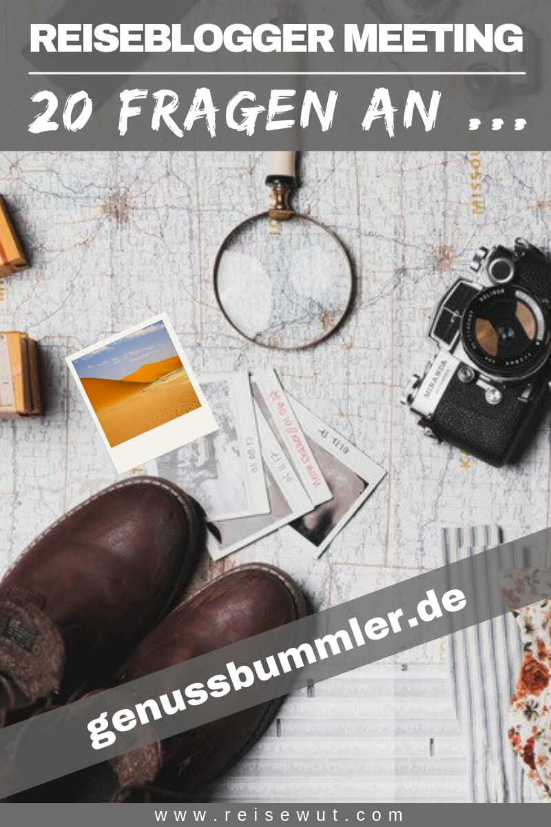 Reiseblogger Meeting genussbummler - Pinterest Pin