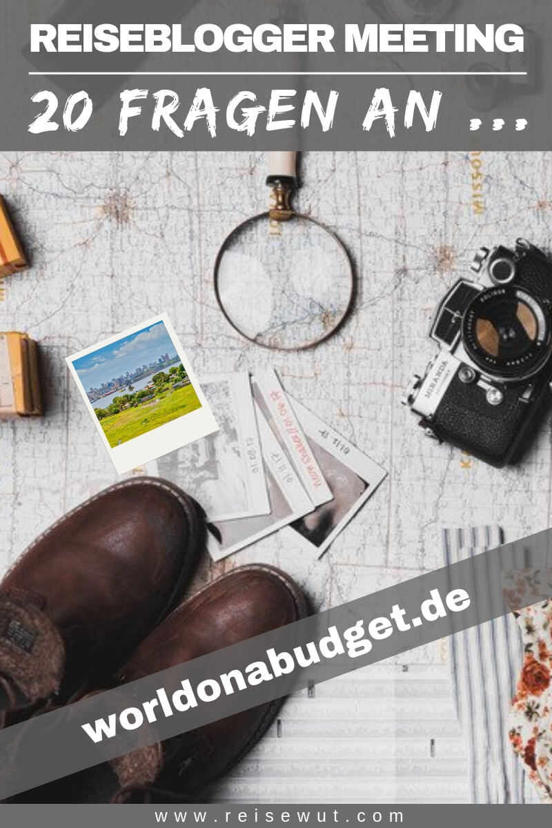 Reiseblogger Meeting worldonabudget.de - Pinterest Pin