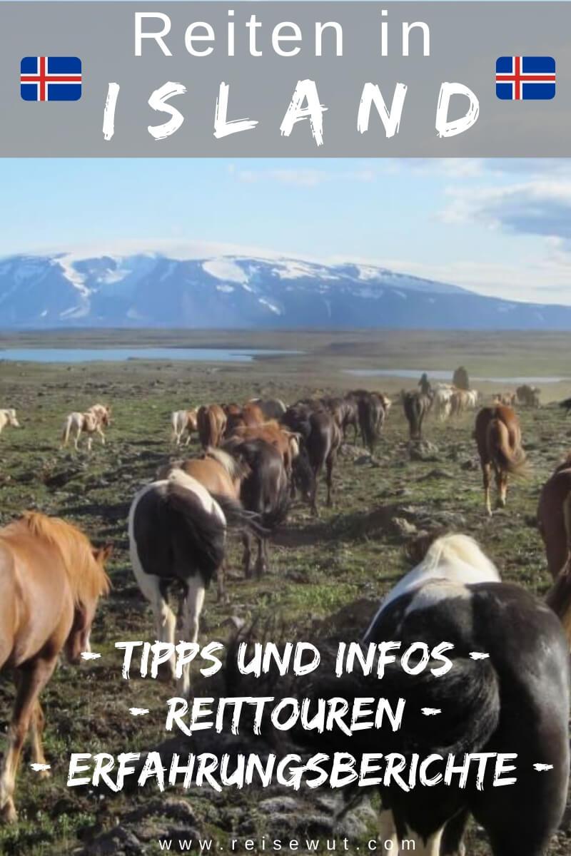 Pinterest Pin | Reiten in Island