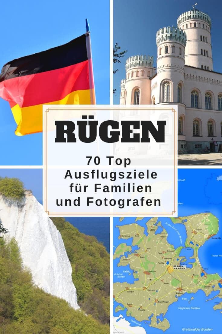 Ausflugsziele und Sehenswürdigkeiten auf Rügen + Karte| Pinterest