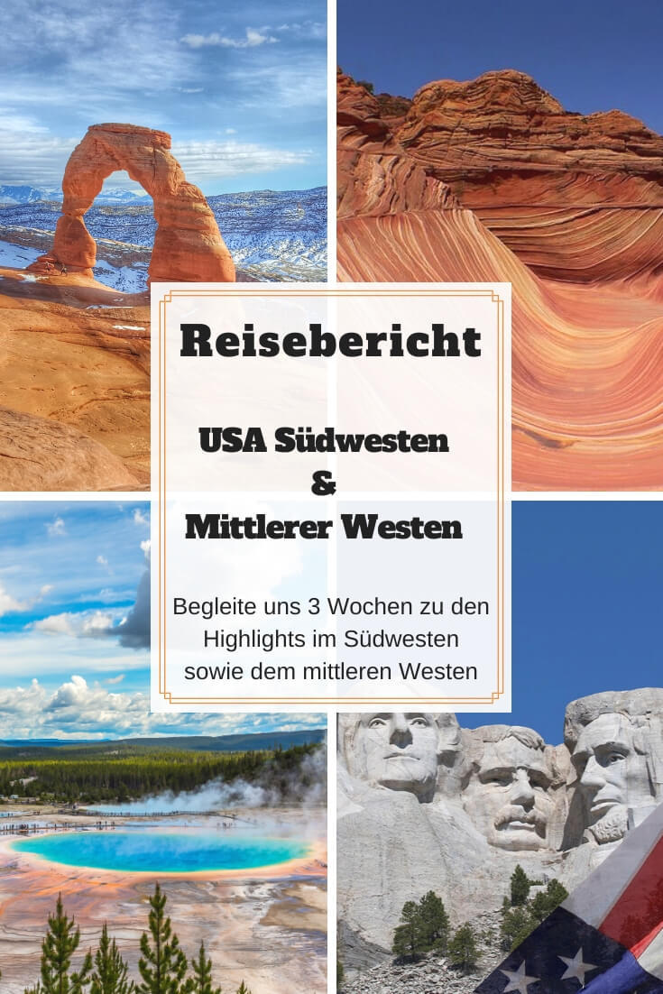 Mittlerer Westen und Yellowstone - Pinterest Pin