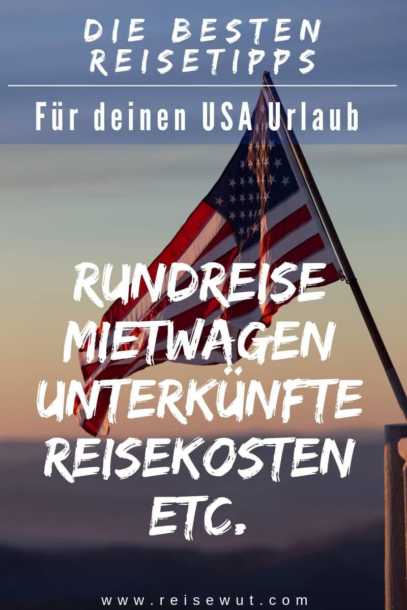 USA Reisetipps - Pinterest
