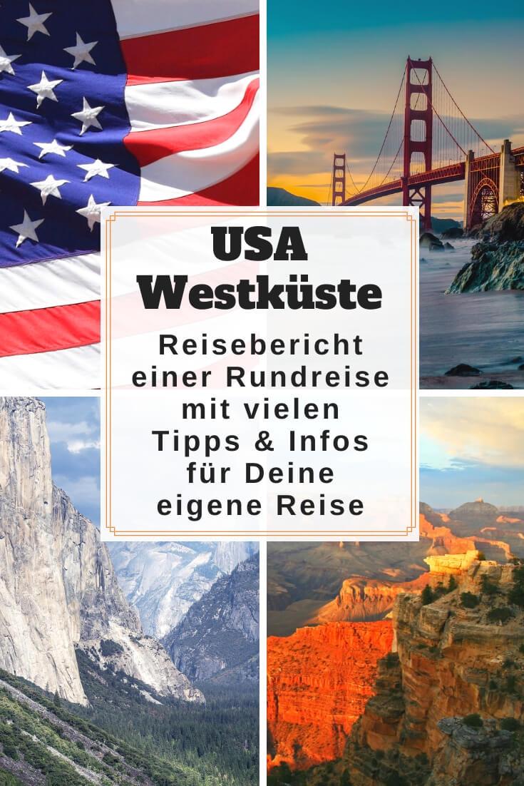 USA Westküste Rundreise | Pinterest Pin