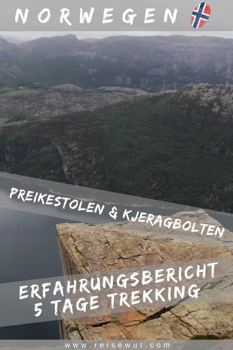 Wanderung Preikestolen und Kjeragbolten | Pinterest Pin