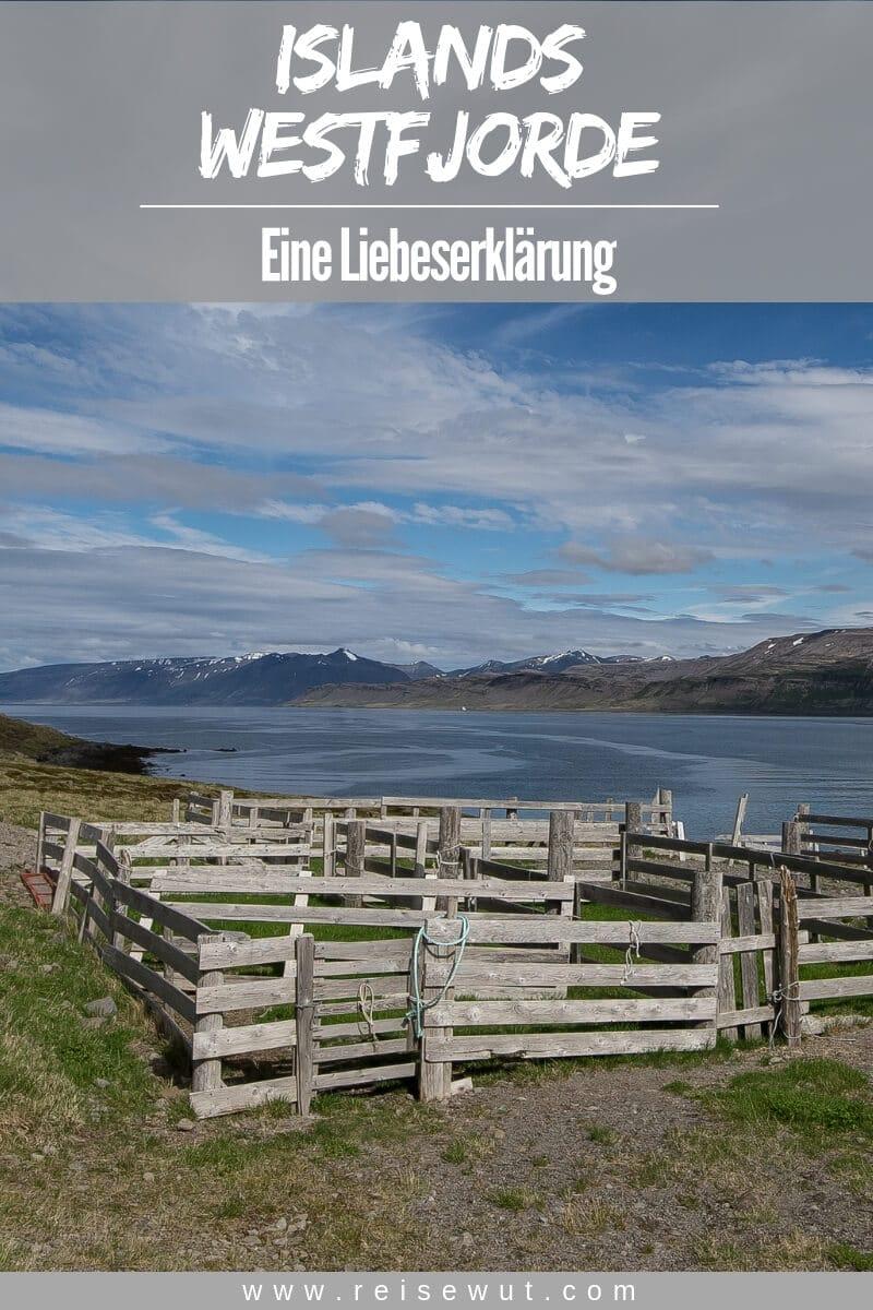 Liebesbrief an die Westfjorde - Pinterest Pin