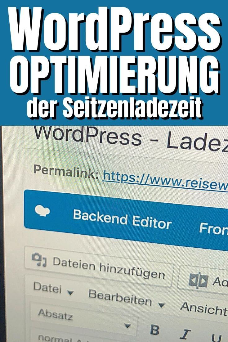 WordPress Ladezeit Optimieren | Pinterest Pin