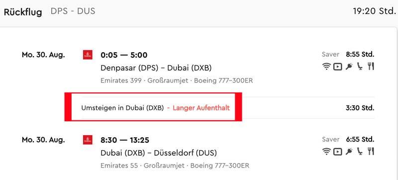 Bei solch einer Gelegenheit in Dubai auf dem Rückweg von Bali nach Frankfurt sollte man nicht zögern