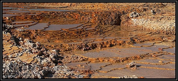 Sinterterrassen beim Crystal Geysir