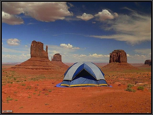 Zelten am Monument Valley ... schöner geht es fast nicht mehr