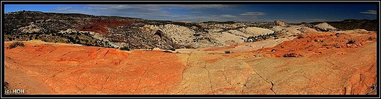 Ausblick vom Top of the hill in Richtung Castle Rock (rechte Hand)