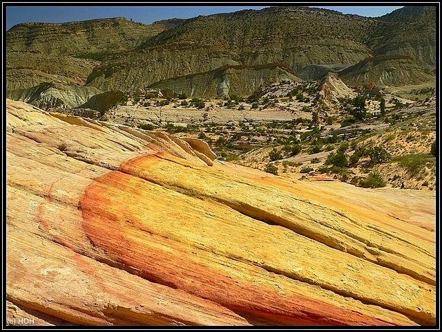 Yellow Rock und Blick auf CCR