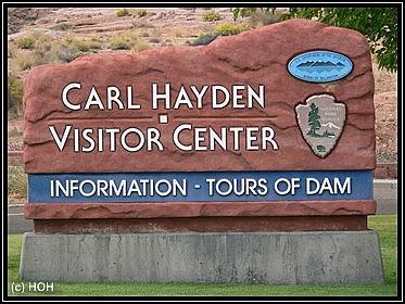 Carl Hayden Visitor Center Sign