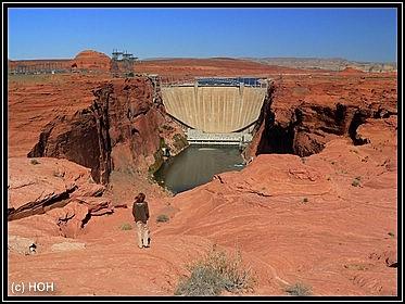Der Damm von vorne