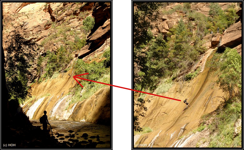 Zion Abseiling