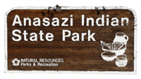 Anasazi Indian State Park Sign