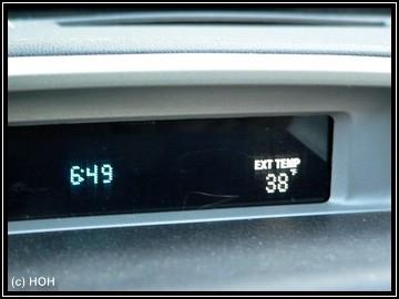 Frostige Temperaturen am Morgen