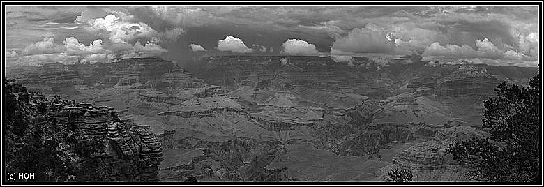 Grand Canyon Panorama s/w