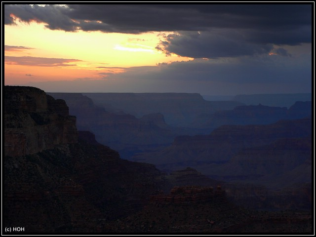 Grand Canyon Sunset vom Hopi Point aus gesehen